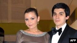 Лола Каримова со своим мужем Тимуром Тилляевым