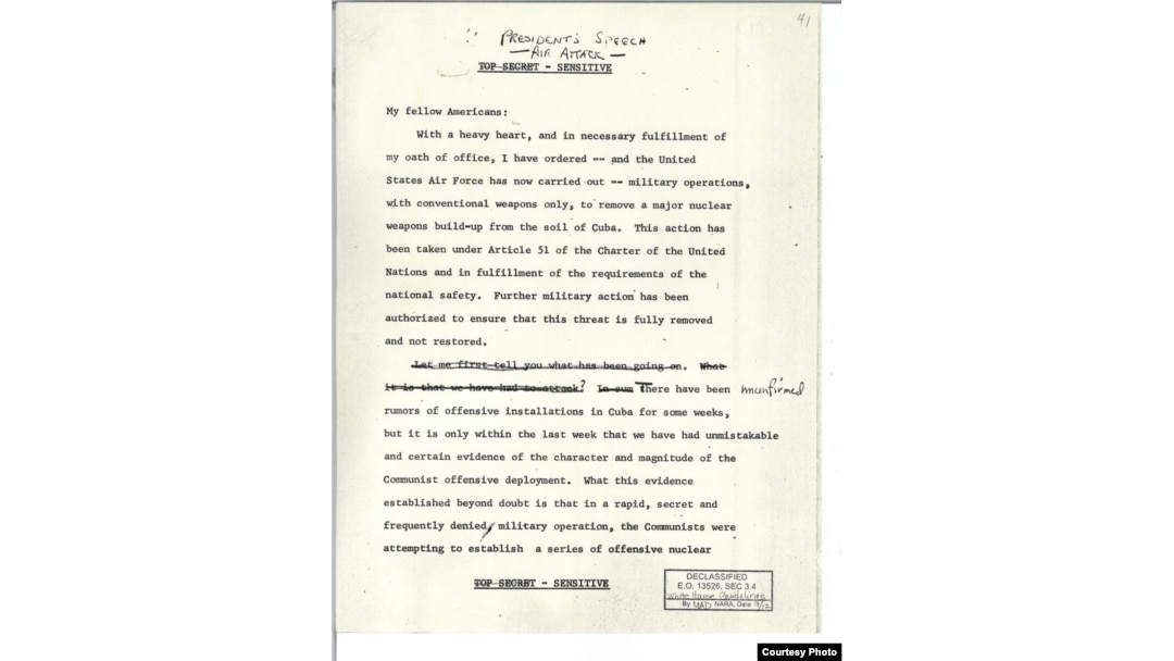 With A Heavy Heart   ' -- Secret JFK Speech Could Have