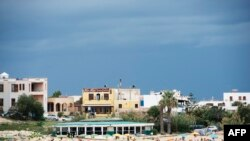Pamje nga ishulli Lampedusa në Itali