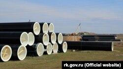 Труби Бештерек-Зуйського водоводу, березень 2021