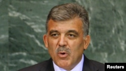 U.S. -- Turkey's President Abdullah Gul speaks during the Millennium Development Goals Summit at United Nations headquarters, in New York, 20Sep2010