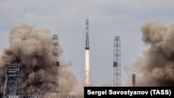 Запуск ракеты-носителя «Протон-М» в 2016 году.