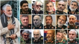 سرلشکر قاسم سلیمانی و ۱۵ فرمانده ارشد دیگر سپاه پاسداران که دخالت نظامی در سوریه را زیر نظر او فرماندهی کردهاند.