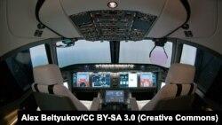 Кабина самолета MC-21. Из-за санкций его дальнейшее производство затягивается