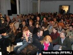 """Sa projekcije filma """"Dobar otac - optužnica ćerke"""", Beograd, 21. oktobar 2011"""