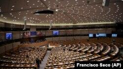 Пленарната зала на Европейския парламент (ЕП)