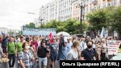 Habarovsk: marșul de cel puțin 3000 de persoane împotriva abuzurilor Moscovei
