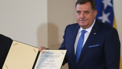 Milorad Dodik na inauguraciji članova Predsjedništva BiH u Sarajevu, 20. november 2018.