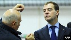 Юрий Лужков и Дмитрий Медведев