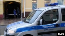 Полицейская машина в Москве. Иллюстративное фото.