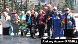 Бывшие узники фашистских лагерей. Алматы, 11 апреля 2011 года.