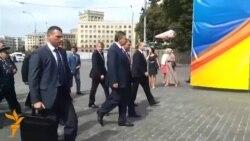 На Януковича у Харкові дивилися з-за огорожі