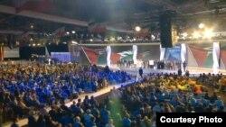 جانب من مؤتمر المعارضة الإيرانية في باريس