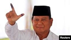 Индонезиянын президенттигине талапкер Прабово Субианто. 17-апрель, 2019-жыл.