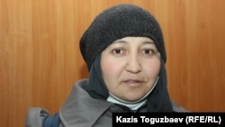 Жанна Умирова на судебном процессе по вопросу об облегчении ей наказания. Алматинская область, 21 декабря 2018 года.