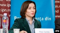 "Maia Sandu said she was ""here [in Brussels] to warn the international partners of Moldova about the risks of massive fraud of the election and to ask them to help."""