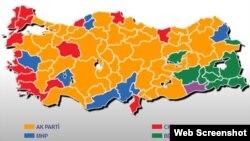 نتایج انتخابات محلی ۲۰۱۴ ترکیه.