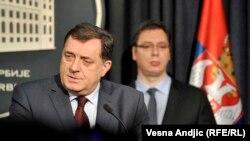 Milorad Dodik sa Aleksandrom Vučićem prilikom ranijeg susreta u Beogradu