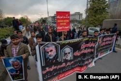 Антиамериканская демонстрация шиитов в Пакистане после убийства Касема Сулеймани. Исламабад, 3 января 2020 года