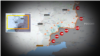 An illustration of the front line in eastern Ukraine as shown on Donbas-TV.