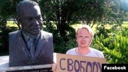 Дмитрий Богатов около памятника Мартину Лютеру Кингу в США