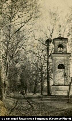 Прыдарожная капліца каля Шэметава, 1916. Год пабудовы і лёс сьвятыні невядомыя