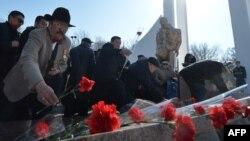 Ооганстанда курман болгондорду эскерүү.15-февраль, 2016-жыл, Бишкек.