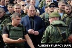 Трапезников на похоронах Захарченко