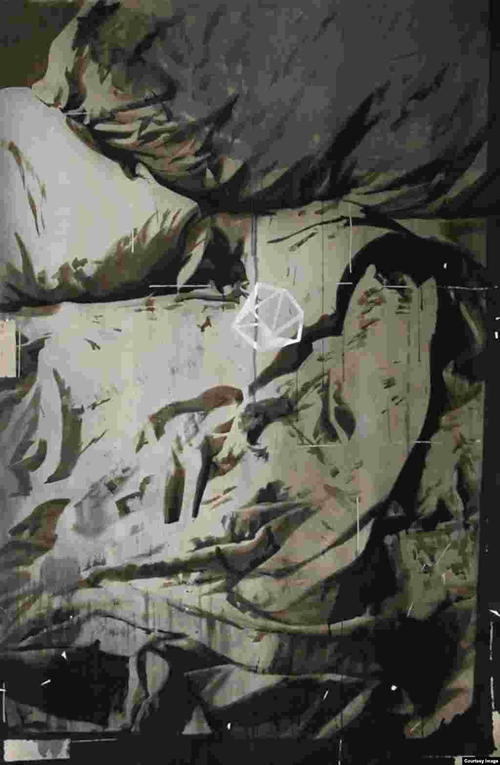 გაზიარებული ინტიმურობების სერიიდან, 2014 წელი. აკრილი ტილოზე.