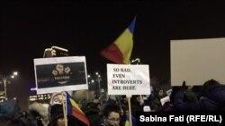 Masovni antikorupcijski protesti u Rumuniji. Bukurešt 3. februara 2017.