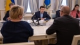 UKRAINE -- President of Ukraine Volodymyr Zelenskiy attends a meeting with representatives of the International Monetary Fund in Kyiv, Ukraine May 28, 2019.