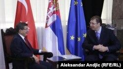 Ahmet Davutoglu i Aleksandar Vučić