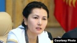 Қырғызстан парламенті депутаты, бұрынғы бас прокурор Аида Салянова.