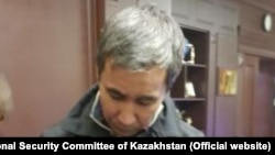 Kazakh businessman Muratkhan Tokmadi after his arrest. Photo from the website of the National Security Committee of Kazakhstan.