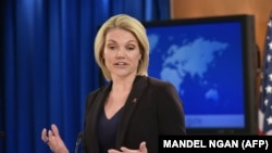 "The decision was made based on the additional pledges and ""the already significant military and financial contributions made by the United States to date,"" U.S. State Department spokeswoman Heather Nauert said. (file photo)"