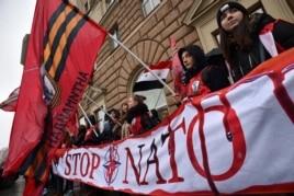 Протесты около посольства США в Москве 3 апреля 2015 года