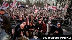 «Сьвята незалежнасьці» ў Менску, 25 сакавіка 2018 году