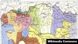 Қазақ АССР картасы. http://ru.wikipedia.org/ сайтынан.