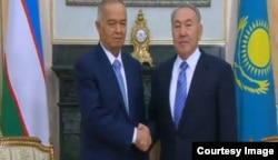 Ислам Каримов и Нурсултан Назарбаев