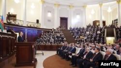 Ильхам Алиев на мероприятии НАНА