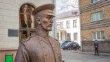 Скульптура гарадавога ў Менску. архіўнае фота