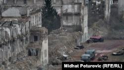 Sa snimanja na lokaciji bivše kasarne Maršal Tito u Sarajevu, 18. novembar 2010