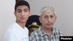 Armenia - Shant Harutiunian and son Shahen stand trial in Yerevan, 8Sep2014.