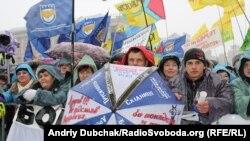 Мітинг підприємців на майдані Незалежності у листопаді 2010 року, архівне фото