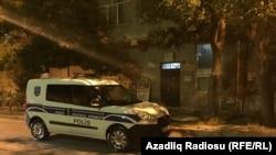 Полицейский автомобиль в Баку. Иллюстративное фото.