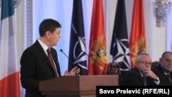 La sesiunea ceremonială a Parlamentului din Muntenegru și a Arunării Parlamentare NATO la Cetinje