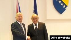 William Hague i Vjekoslav Bevanda u Sarajevu, 24. oktobar 2012.
