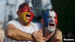 Болельщики на матче Германии против Словакии