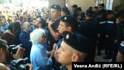 Protest ispred Gradske uprave u Beogradu