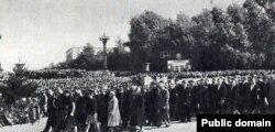 Пахаваньне 16 жніўня 1956 году.
